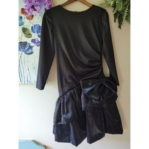 Vintage Dresses - Vintage 80s Black Prom Dress